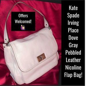 Kate Spade Irving Place Dove Gray Nicoline Bag!